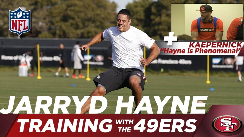 Training with the 49ers